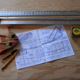 1. Begin lofting lines onto plywood.