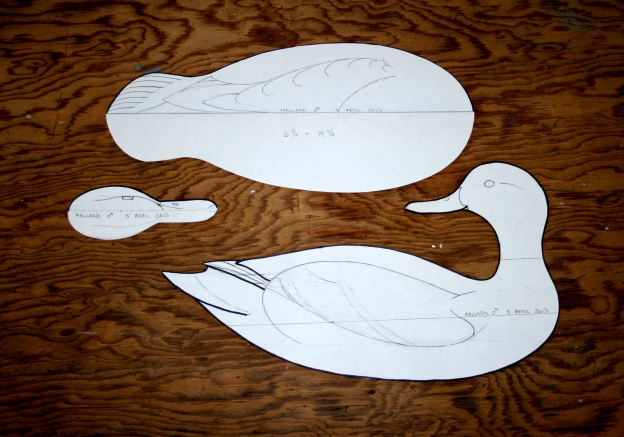 1. Start with a pattern you like. This is a decorative Drake Mallard - body is a bit over 14 inches long.