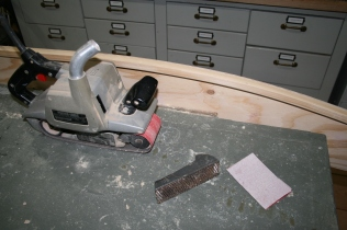 10. Fair outside edges with sanding and rasping, etc.