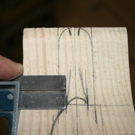 "11. Measure and draw ""ramp"" on bill."