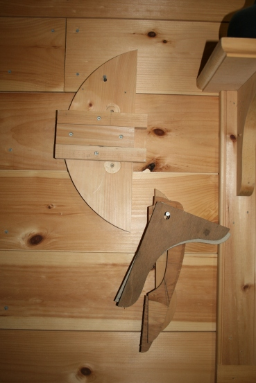 10. Tack 3 pieces together & hang on shop wall with other jigs.