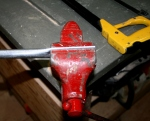 11. Cut to length and flatten ends in vise.