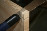12. Bevel notches in stern transom.