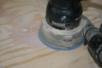 12. Bondo faired with orbital sander.