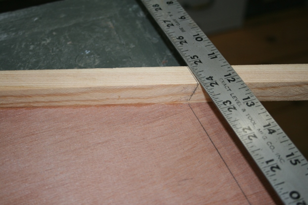 12. Lay out bevel across chines.