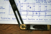 13. Measure transom bevel from plans.