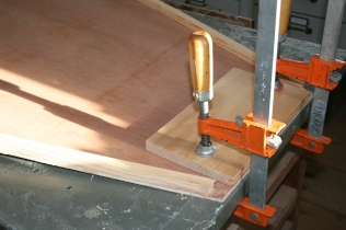 15. Clamp bow to bench before fastening side pieces.