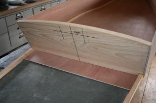 15. Cut radius on top of stern transom.