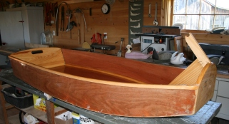 16. Gunwales rounded and sealed with epoxy.