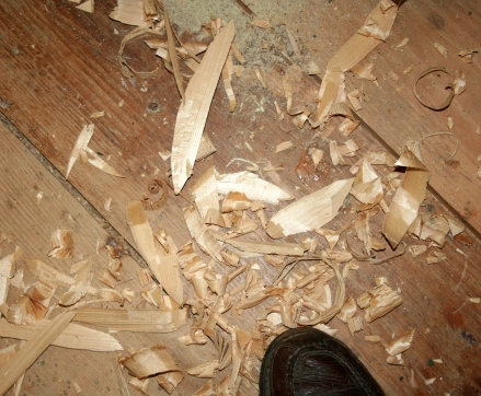 17. Make lots of chips, shards and shavings!
