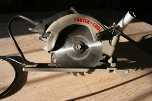 17. Cut with circular saw or jigsaw.