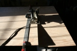 18. Trim plywood aft of side pieces.