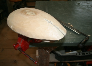 19. Rough shaping is complete - all done with drawknife so far....