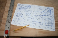 2. Draw 12 inch x 74 inch grid.
