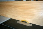 20. Chine log width  is set at board thickness on table saw.