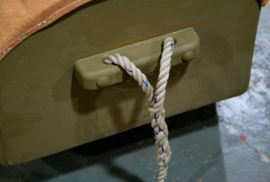 20. Splice a half-inch painter into bow cleat.