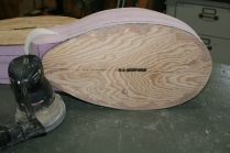 25. Round edges of bottom board.