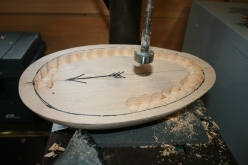 26. Drill perimeter of bottom board first - just go to a safe depth for now. Drill the center to the full depth.