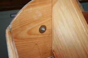 3. Back up bow cleat with ss fender washers.