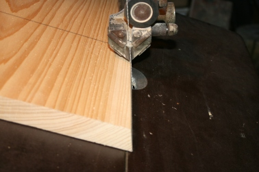 3. Cut bottom and side bevels on bandsaw.