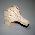 30. Here is the sawn out head - almost ready for carving.