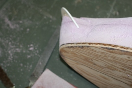 31. Remove the cleat and sand bottom and edges.