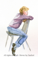 32. Watercolor sketch