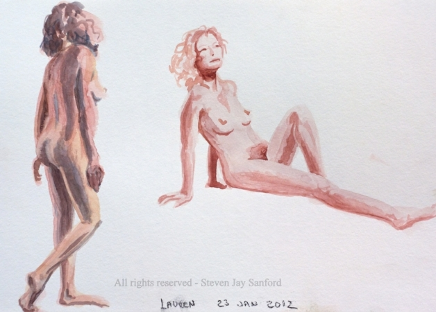 35. Watercolor sketches