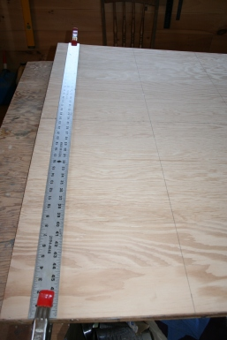 4. 4-foot rule and 2 spring clamps to draw grid.