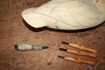 44. I use Warren Cutlery gouges and parting tools also with my trusty X-acto # 22.