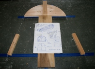 5. Jig for bending headpiece.
