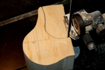 "5. When sawing under bill, leave about a 1/4"" to support the head when sawing the plan view later."
