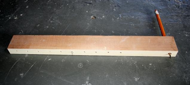 5. Shop-made beam compass.