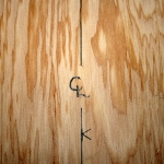 6. Mark center line entire length of plywood.