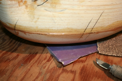 62. Once fully cured, shave the perimeter with an older X-acto blade - no need to dull a good blade for this job.