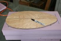 11. Leave a little foam either side of bottom board.