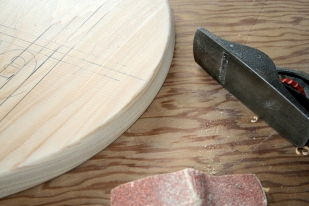 8. Ease outer edge with plane and sandpaper.