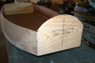 8. Mark lines for bow cleat.