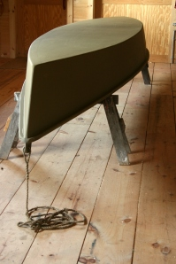 Battenkill Bateau - Hull in Shop - upside down