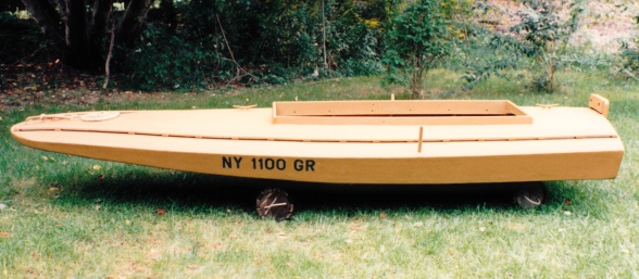 Port side - seems ilke the GR in the registration must stand for Grassboat...