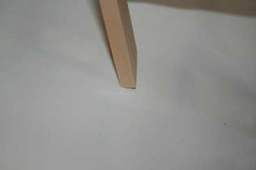 "11 - Each stick is beveled so only the ""interior"" point makes contact."