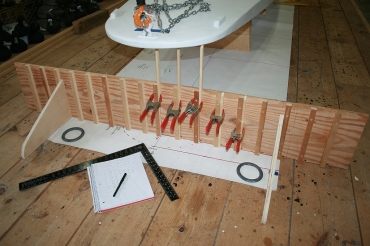 "14 - I made different ""legs"" for the jig so I could measure up from the floor."