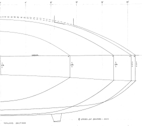 5 - Here are the forward sections - drawn full scale.