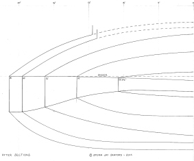6 - Here are the aft sections. All bumps and hollows are faired in these drawings.