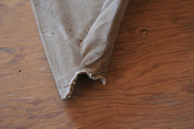 1 - This cotton canvas for the cowling held up very well for about 20 years - until some paper wasps found it.