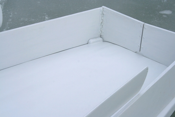 3 - The chocks keep the rack from sliding when the decks are icy.