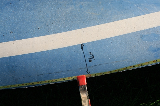 "I presumed the waterline was accurate and measured ""up"" from there along the hull."