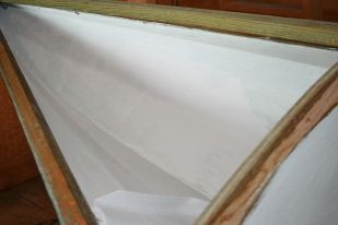 Although both chambers will be out of sight, I paint them white just to make finding any future problems a bit easier.