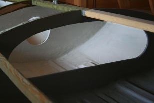 The high sill on the storage chamber should keep any bilgewater out - and so keep the contents on the dry side.