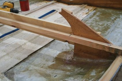 This cross spall comes off after epoxy cures.